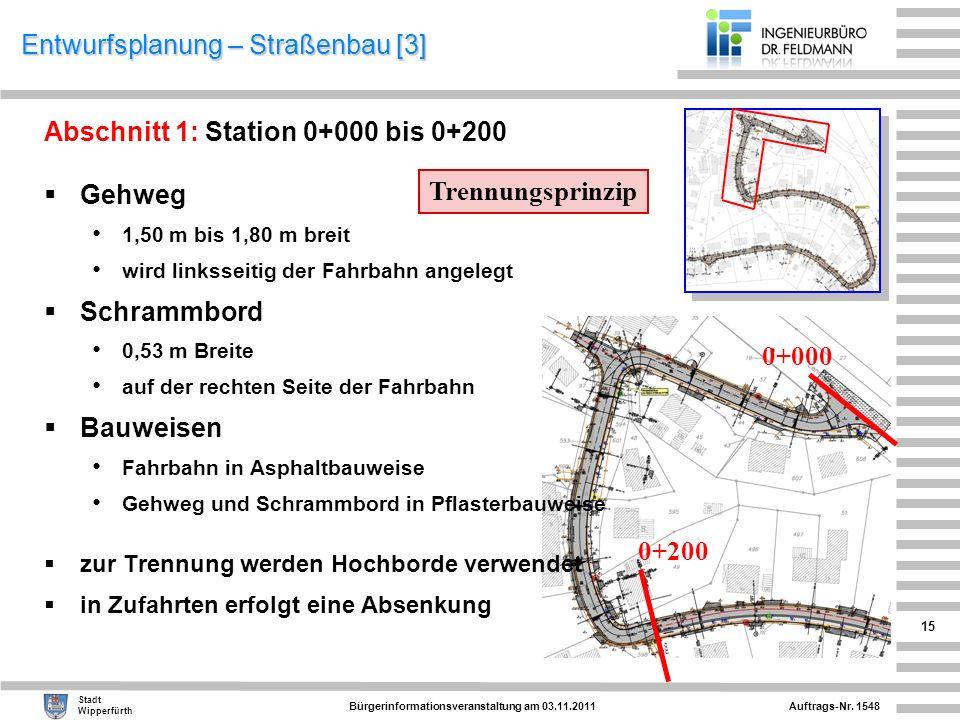 Entwurfsplanung – Straßenbau [3]
